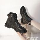 馬丁靴 馬丁靴女2021秋冬新款黑色厚底短靴英倫風加絨百搭機車靴網紅靴子 非凡小鋪