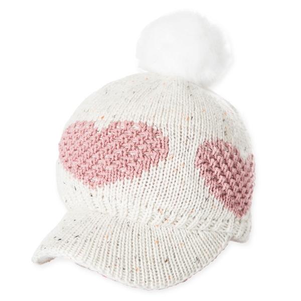【PolarStar】女保暖馬球帽-愛心『白』P20602 冬季.禦寒.保暖.毛球帽.素色帽.針織帽.毛帽.毛線帽