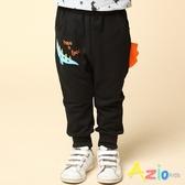 Azio 男童 褲子 恐龍印花立體恐龍背鰭休閒運動長褲 (黑) Azio Kids 美國派 童裝