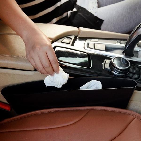 [拉拉百貨]車用座椅雜物收納盒 椅座縫隙收納盒 車用椅縫置物盒 汽車收納 顏色隨機出貨