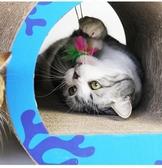 土貓寵物 愛貓園隧道型貓抓板 磨爪器貓咪用品耐磨瓦楞紙貓窩