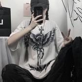 韓國夏季超火cec短袖t恤男女潮流韓版帥氣五分袖港風潮牌街頭嘻哈衣服【居享優品】