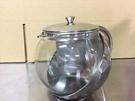 【不銹鋼玻璃泡茶壺1100ML】NO135 保健壺 泡茶壺 玻璃壺【八八八】e網購