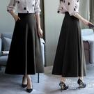 春夏季長裙大碼半身裙中長款黑色高腰百搭a字適合胯大腿粗裙子 小時光生活館