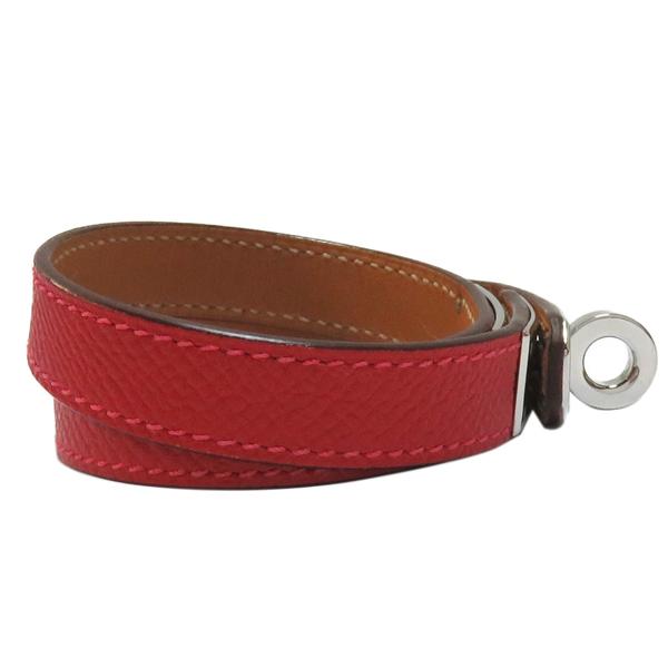HERMES 愛馬仕 Kelly Double Tour bracelet 紅色牛皮雙環凱莉手環 □O刻 【二手名牌BRAND OFF】
