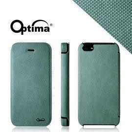 【漢博商城】Optima iPhone 5/5S 義大利針織系列側掀保護套 - 湖水綠