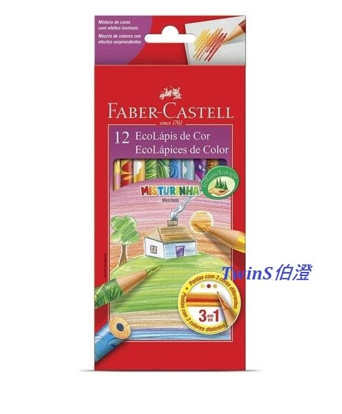 Faber-Castell 變色彩虹色鉛筆(120112MIX) 12色