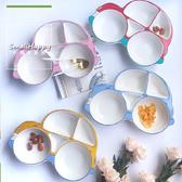 兒童餐盤創意陶瓷早餐盤可愛卡通小汽車餐盤分格盤子寶寶飯盤餐具 居享優品