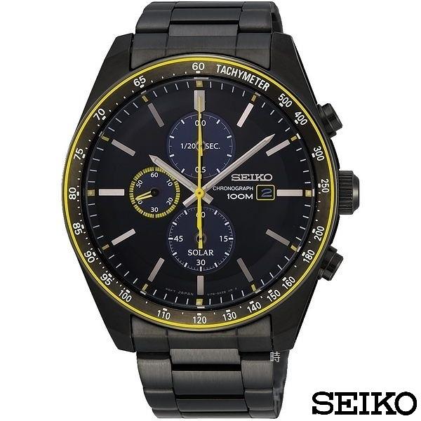 SEIKO 精工 太陽能 SSC729P1 (V176-0AZ0SD) 三眼計時 男錶/44mm