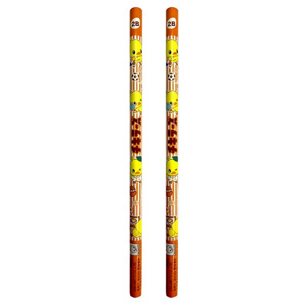 【日本正版】日清小雞 2B鉛筆 2入組 日本製 鉛筆 圓軸鉛筆 日清食品 - 392882