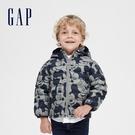 Gap男幼童 Gap x Disney 迪士尼印花連帽梭織羽絨服 593092-灰色