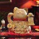 设计师美术精品馆金色招财猫创意陶瓷储蓄存钱罐开业礼品【五福临门储蓄罐26*25*27】