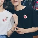 情侶裝 小眾設計感創意小豬情侶短袖T恤2020新款純棉寬鬆網紅情侶裝夏裝