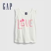 Gap女幼童 布萊納系列 甜美印花無袖上衣 689309-白色