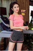 新款瑜伽服套裝女運動健身房晨跑步服寬鬆速干衣顯瘦短褲   蓓娜衣都