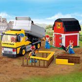 玩具積木6歲以上男孩益智拼裝積木工程翻斗車玩具模型