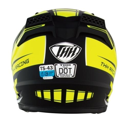 【東門城】THH TS-43A+ MAX (平黑/螢光黃)全罩式安全帽 雙鏡片