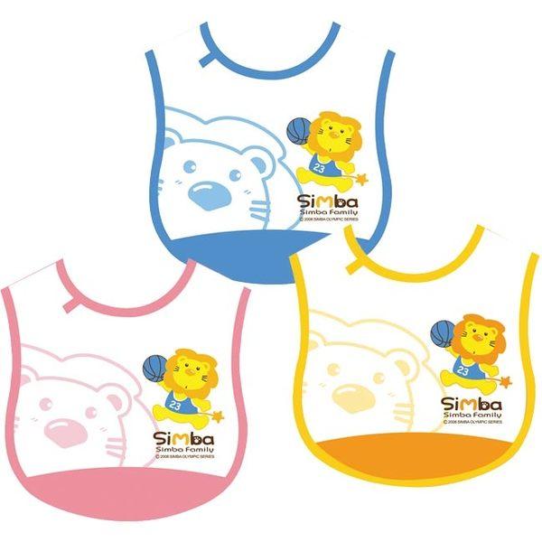 【奇買親子購物網】小獅王辛巴simba自黏圍兜(籃球)-(藍/粉紅/黃色)