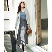 秋裝販促[H2O]雙排釦含羊毛長版西裝大衣外套 - 粉/淺綠/淺藍色 #0667001