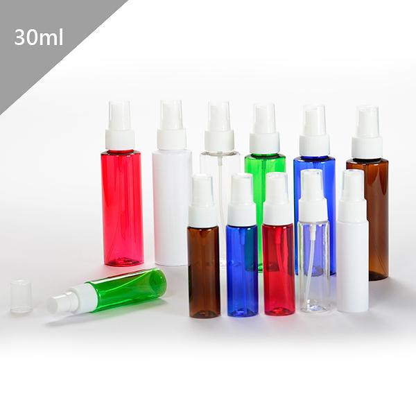『藝瓶』瓶瓶罐罐 空瓶 空罐 隨身瓶 旅行組 化妝保養品分類瓶 按壓噴瓶 6色噴霧分裝瓶-30ml