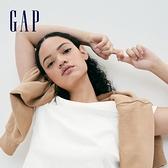 Gap女裝 簡約純色圓領短袖T恤 795346-白色