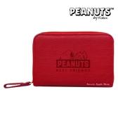 日本限定 SNOOPY 史努比 壓紋趴姿版 證件 信用卡 票卡夾 卡片收納包 / 卡夾包 / 零錢包(紅色)