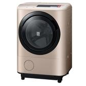 (送陶板屋餐券5張 14天後寄出)日立12.5公斤溫水滾筒(與BDNX125BHJR同款)洗衣機右開金色BDNX125BHJRN