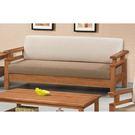 【森可家居】南檜實木板椅三人沙發 8SB134-4 MIT 台灣製造