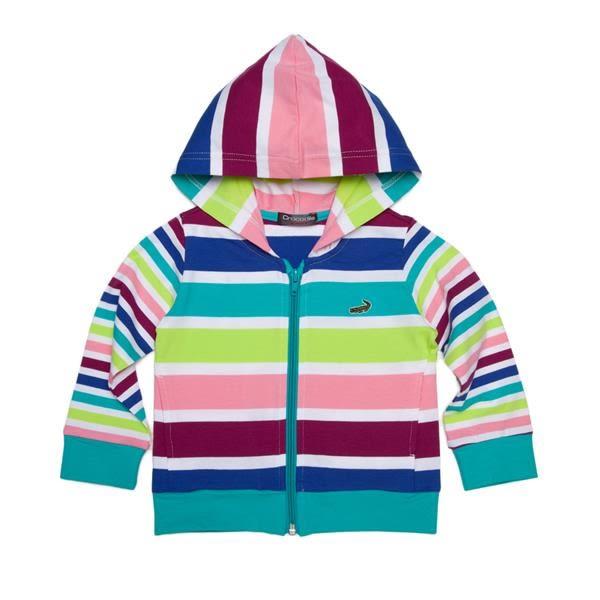 『小鱷魚童裝』彩條連帽外套(02號~10號)369750
