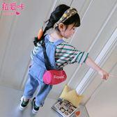 女童童小童牛仔洋氣兒童褲子3歲1女寶寶吊帶褲