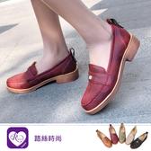 【快速出貨】韓系優雅氣質金屬方形圓頭低跟方跟涼鞋//5色/35-43碼 (RX1170-1902) iRurus 路絲時尚