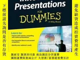 二手書博民逛書店Innovative罕見Presentations For DummiesY410016 Ray Anthon