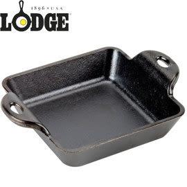 丹大戶外【LODGE】Square Mini 10oz迷你荷蘭鑄鐵平底方形焗烤盤/烤吐司盤/厚片蜜糖吐司 HMSS