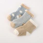 3雙春秋款寶寶0-3-6-12個月新生兒寶寶純棉地板襪子嬰兒襪子松口