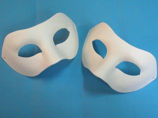 半罩面具 彩繪面具 空白面具 歌劇魅影 / 加厚 (附鬆緊帶) /一個入 [#40] 紙漿面具 DIY面具 臉譜