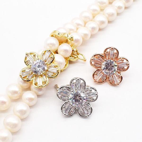 珠寶飾品配件固定扣 珍珠項鏈扣防止多層毛衣鏈滑動
