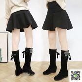 韓版長靴 2019秋冬季新款韓版過膝長筒靴女過膝高跟加絨彈力百搭顯瘦長靴女 聖誕免運