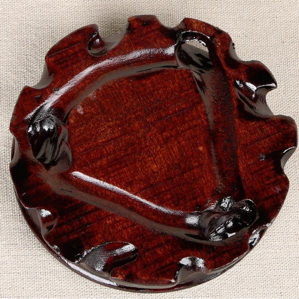 紅木圓形木座 豼貅金蟾龍龜玉石茶具盆景花瓶擺飾專用底座木座木托木盤(直徑10公分)