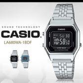CASIO LA680WA-1B 耀眼風格數字腕錶 LA-680WA-1BDF 熱賣中!