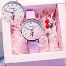 流行女錶 紫色手錶女漸變色學生韓版簡約氣質夢幻2020年新款可愛初高中生 店慶降價