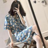 真絲睡衣女夏韓版薄款甜美可愛冰絲睡裙