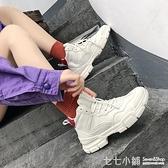 高筒鞋年秋季新款超火街拍女鞋 BF港風休閒百搭學生高筒運動鞋