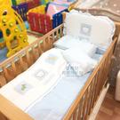 【愛吾兒】娃娃城 Baby City 動物熊寢具七件組(L)-藍/粉