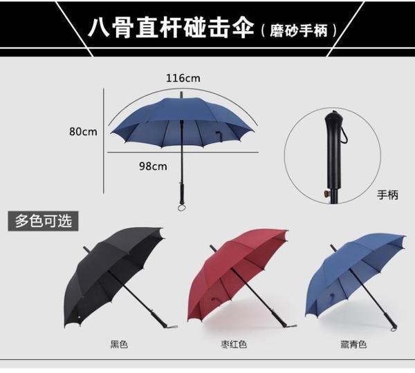 雨傘長柄男女長傘直柄雨傘定制logo印字圖案廣告傘定做黑傘 滿天星