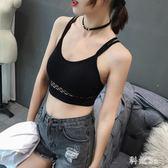 錐點韓版雙肩帶防走光打底性感運動內衣抹胸背后交叉網格美背裹胸 PA4694『科炫3C』