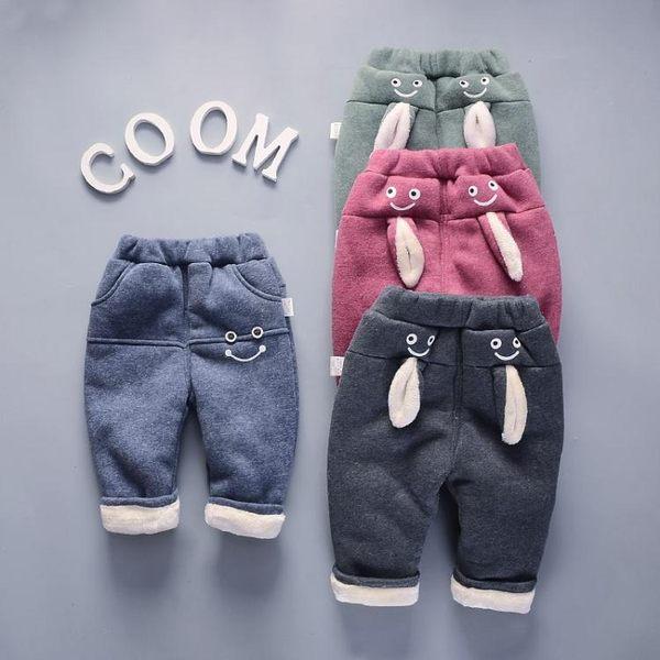 長褲加絨褲子冬款寶寶長褲夾棉加厚小童嬰兒女棉褲  莎瓦迪卡