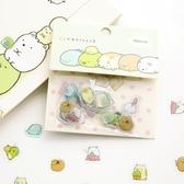 角落生物貼紙-云木雜貨 透明貼紙卡通動物6款貼紙包裝飾DIIY手賬日記裝飾80枚入
