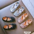 新款軟底兒童單鞋公主小皮鞋春秋季寶寶豆豆小童女孩女童鞋子 夢幻小鎮