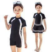 兒童游泳衣中大童女童連體裙式女孩6-8-12-15歲學生專業ins風泳裝 任選一件享八折