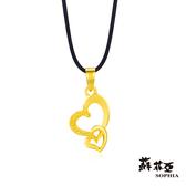 蘇菲亞SOPHIA - G LOVER系列雙心黃金項鍊